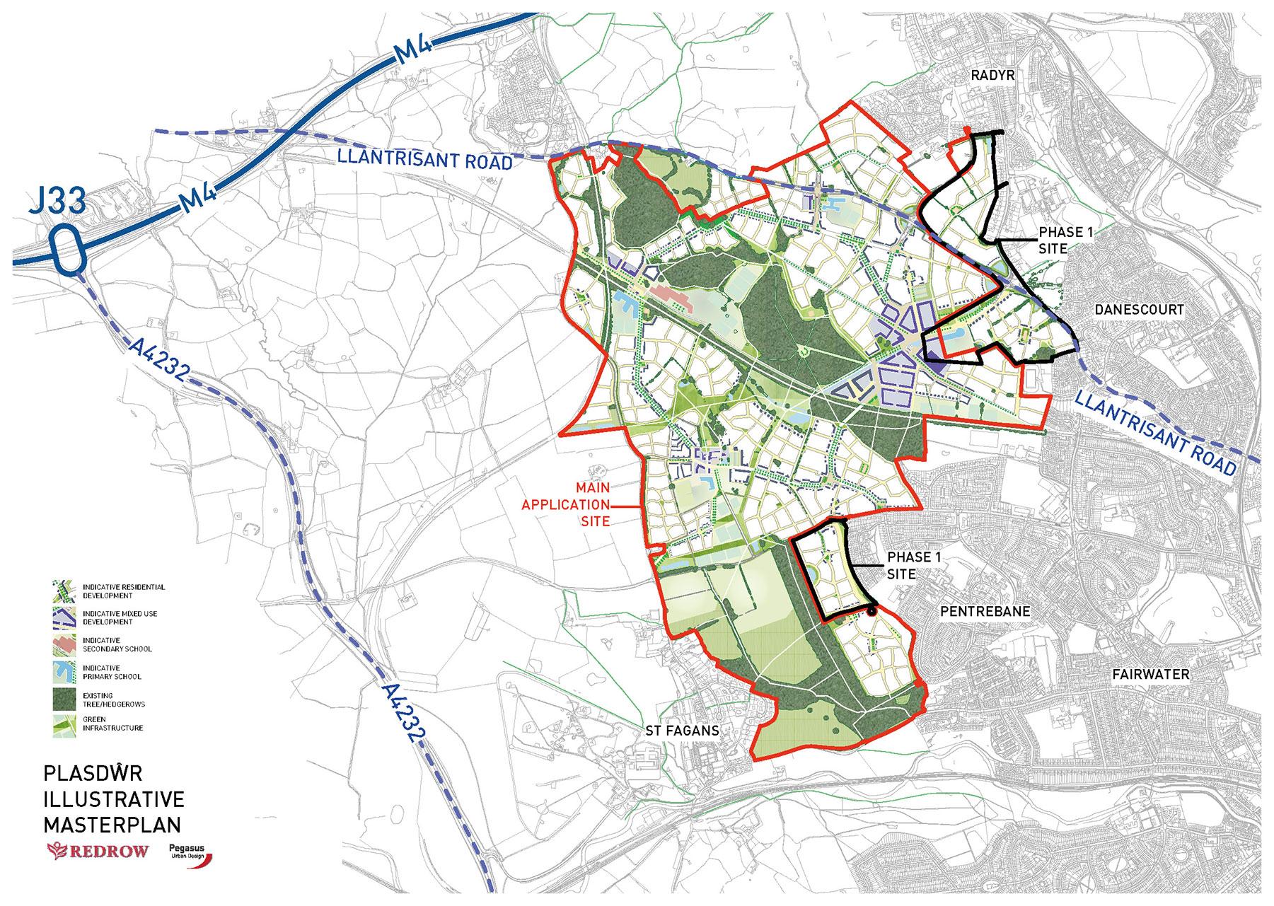 Plasdwr site plan